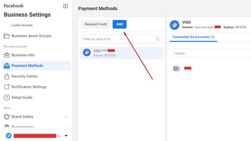 Menambahkan metode pembayaran baru
