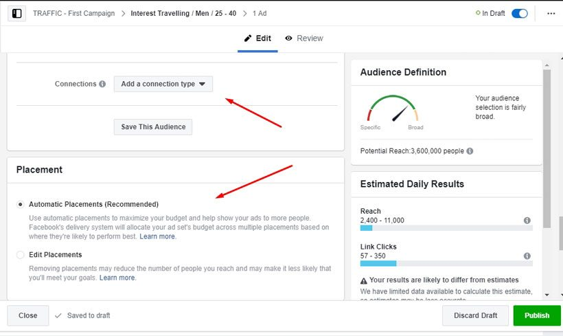 Pengaturan Adset iklan Facebook