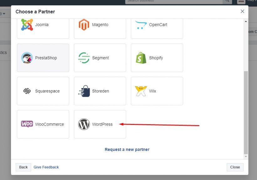 Plugin pixel Facebook untuk WordPress